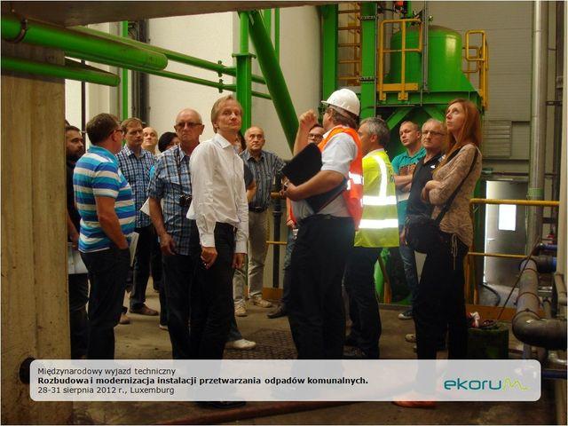 Międzynarodowy wyjazd techniczny<br><strong>Rozbudowa i modernizacja instalacji przekształcania odpadów komunalnych</strong><br>28-31 sierpnia 2012<br>Luxemburg thumbnail