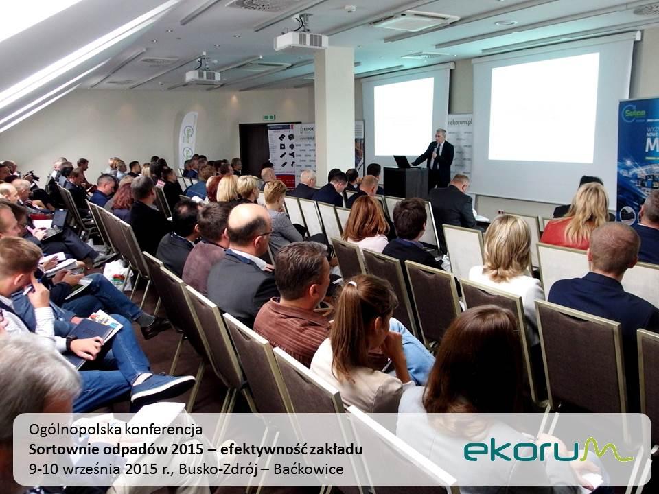 Ogólnopolska konferencja<br><strong>SORTOWNIE ODPADÓW 2015 – efektywność zakładu</strong><br>9-10 września 2015<br>Busko-Zdrój – Baćkowice thumbnail