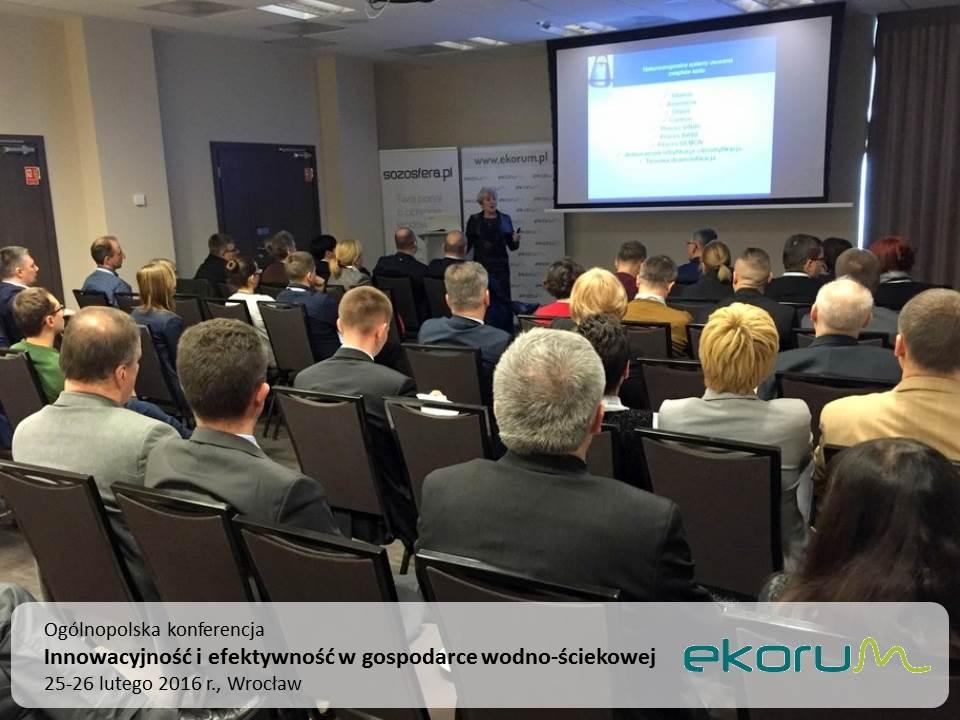 Ogólnopolska konferencja<br><strong>Innowacyjność i efektywność w gospodarce wodno-ściekowej</strong><br>25-26 lutego 2016<br>Wrocław thumbnail