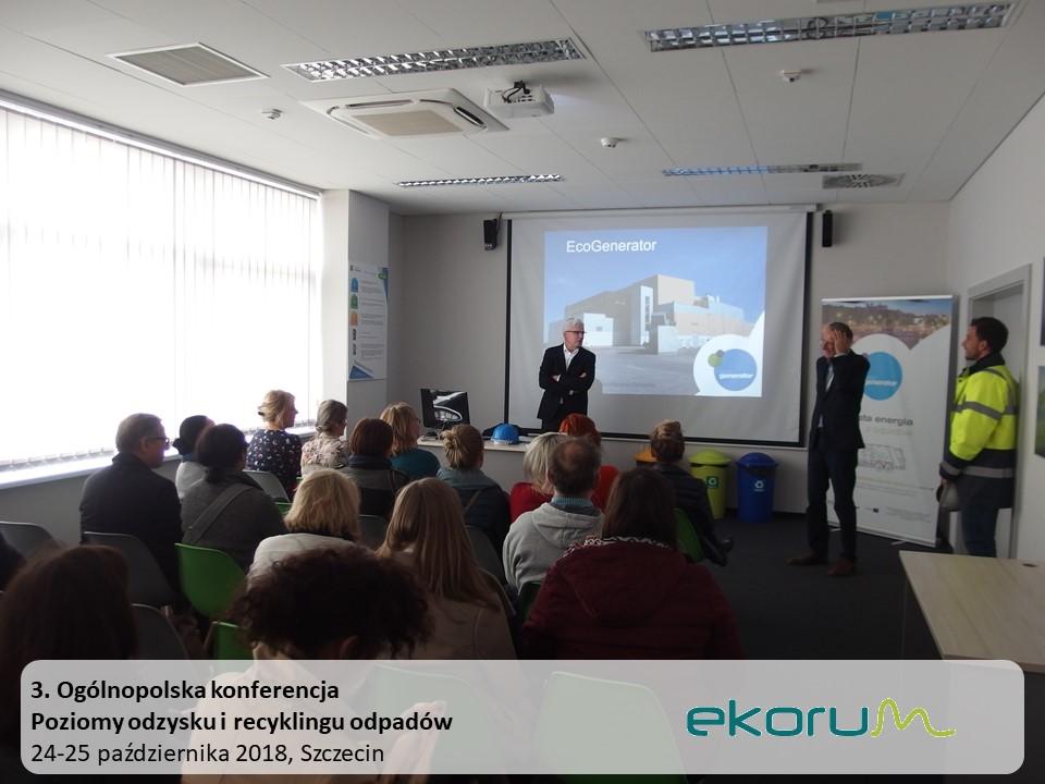 3. Ogólnopolska konferencja<br><strong>Poziomy odzysku i recyklingu odpadów</strong><br>25-26 października 2018<br>Szczecin thumbnail