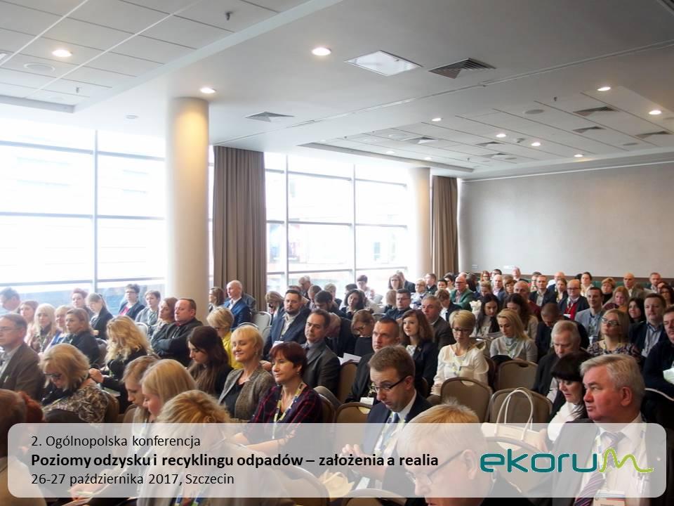 2. Ogólnopolska konferencja<br><strong>Poziomy odzysku i recyklingu odpadów – założenia a realia</strong><br>26-27 października 2017<br>Szczecin thumbnail