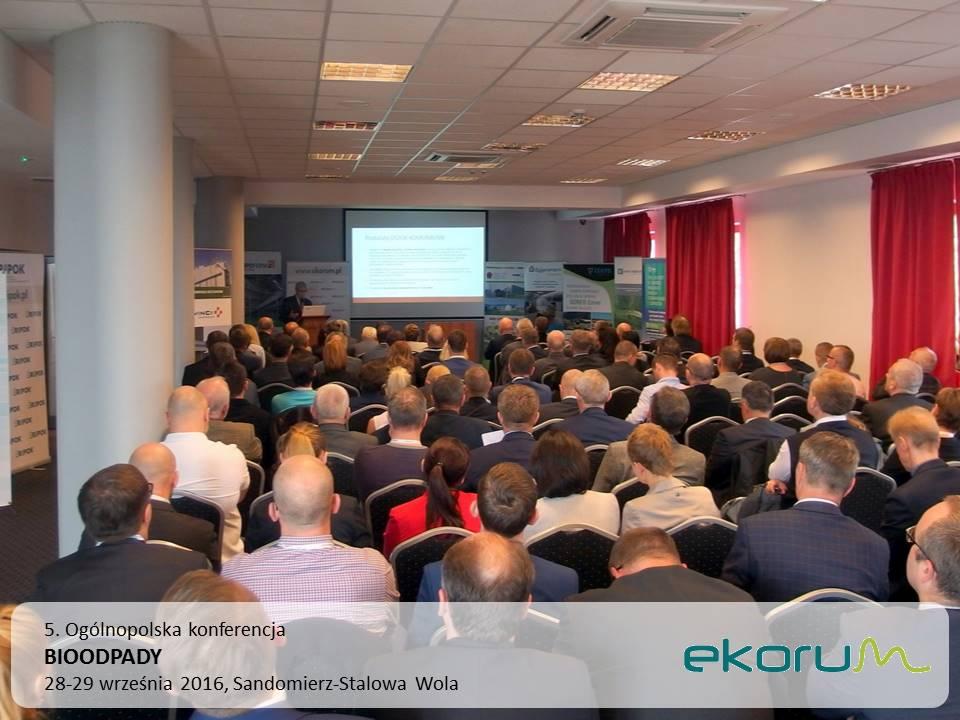 5. Ogólnopolska konferencja<br><strong>BIOODPADY</strong><br>28-29 września 2016<br>Sandomierz – Stalowa-Wola thumbnail