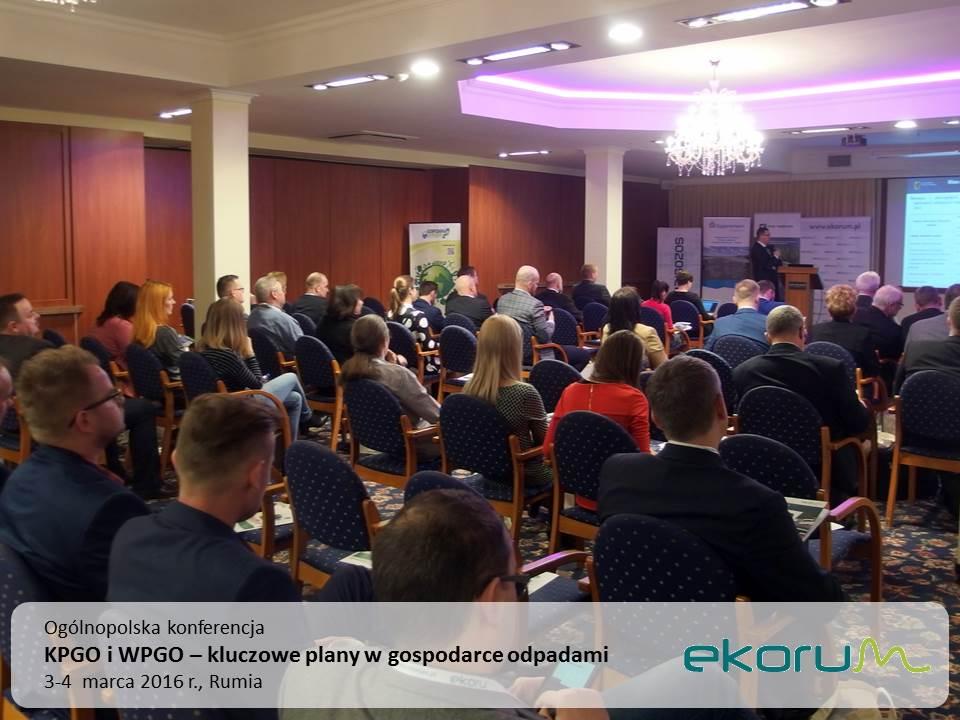 Ogólnopolska konferencja<br><strong>KPGO i WPGO – kluczowe plany w gospodarce odpadami</strong><br>3-4 marca 2016<br>Rumia thumbnail