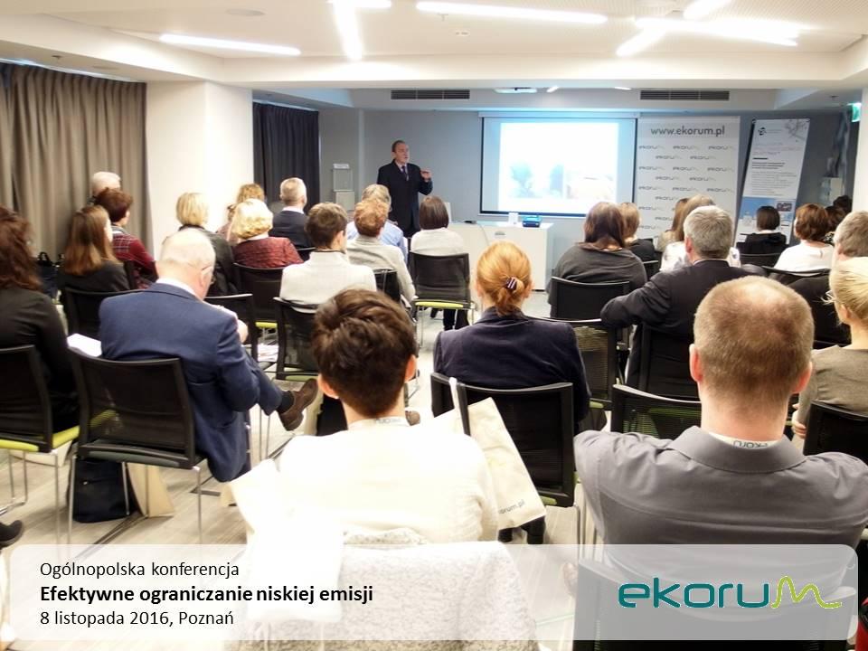 Ogólnopolska konferencja<br><strong>Efektywne ograniczanie niskiej emisji</strong><br>8 listopada 2016<br>Poznań thumbnail
