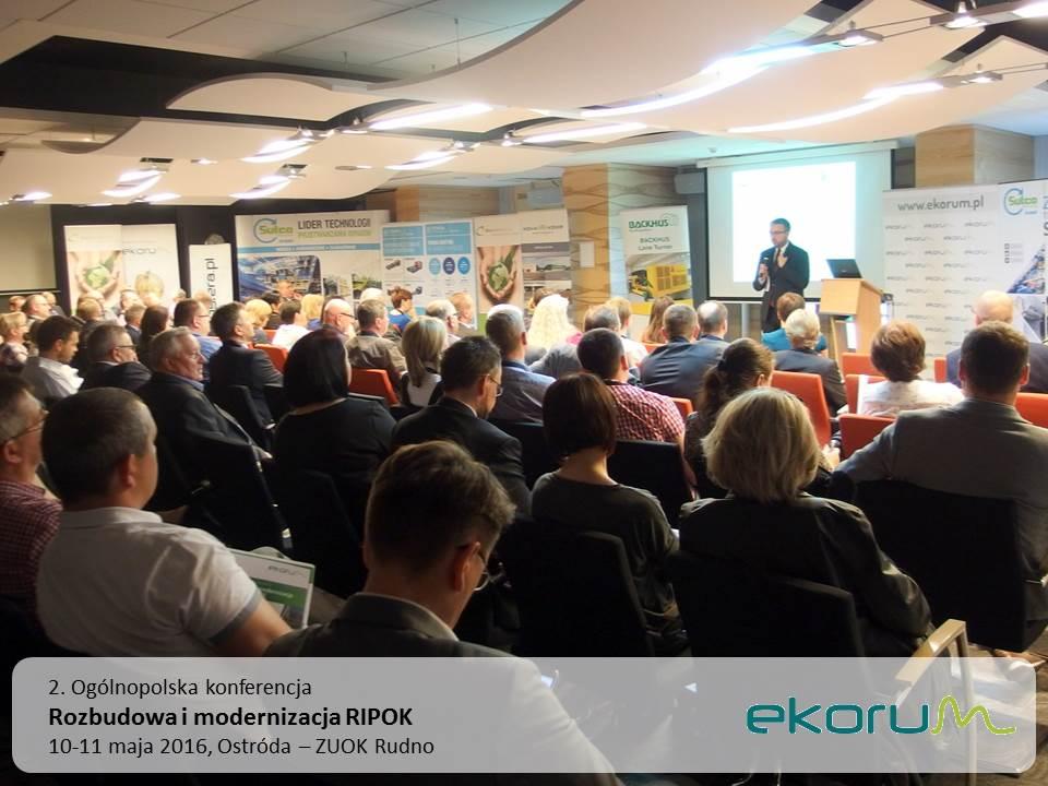 2. Ogólnopolska konferencja<br><strong>Rozbudowa i modernizacja RIPOK</strong><br>10-11 maja 2016<br>Ostróda – ZUOK Rudno thumbnail
