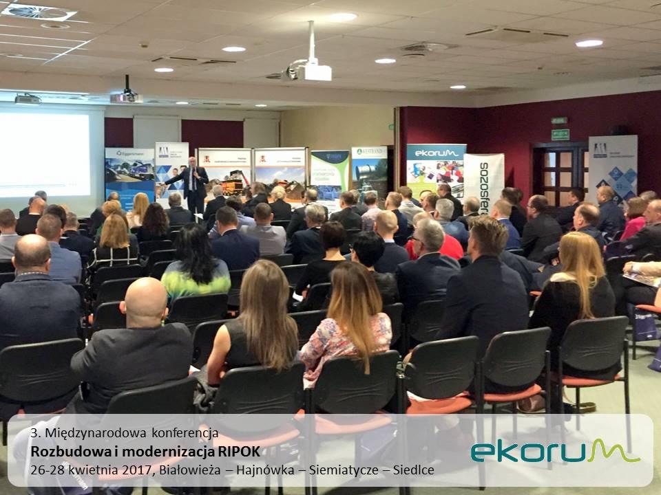 3. Międzynarodowa konferencja<br><strong>Rozbudowa i modernizacja RIPOK</strong><br>26-28 kwietnia 2017<br>Białowieża PUK Hajnówka – PRONAR Siemiatycze – ZUO Siedlce – BMP Brześć (Białoruś) thumbnail