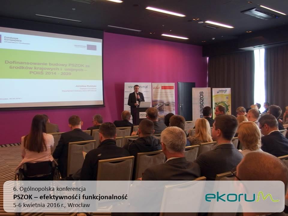 6. Ogólnopolska konferencja<br><strong>PSZOK – efektywność i funkcjonalność</strong><br>5-6 kwietnia 2016<br>Wrocław thumbnail
