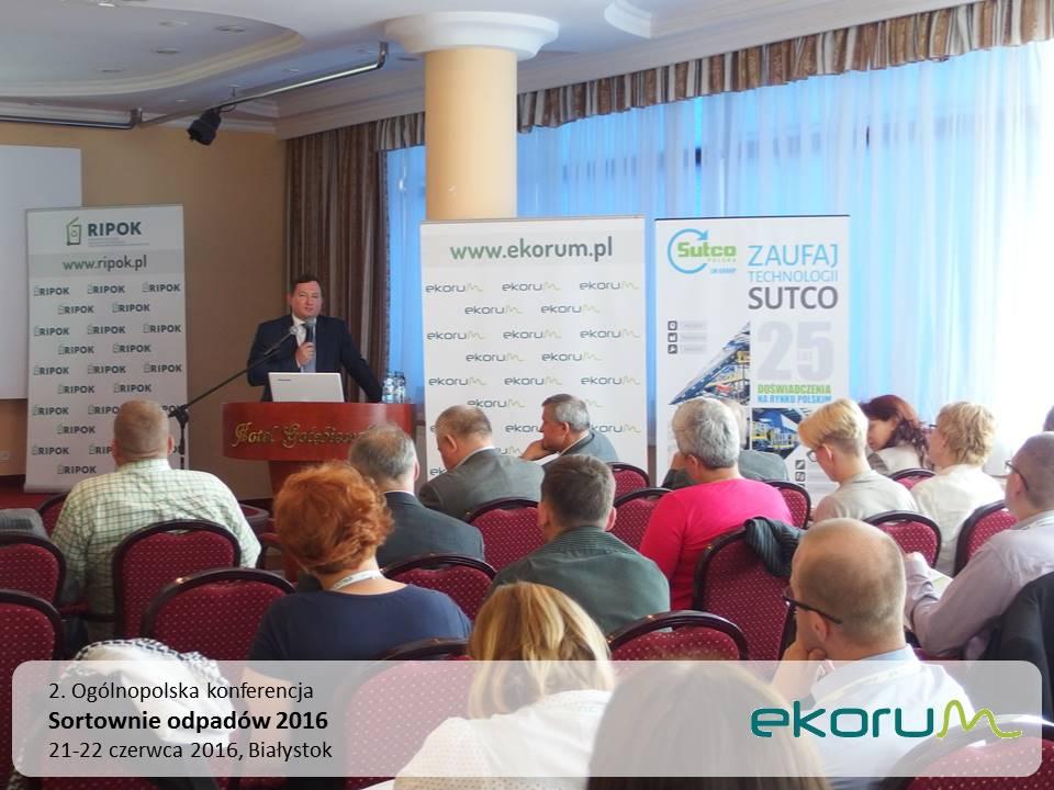 2. Ogólnopolska konferencja<br><strong>Sortownie odpadów 2016</strong><br>21-22 czerwca 2016<br>Białystok thumbnail