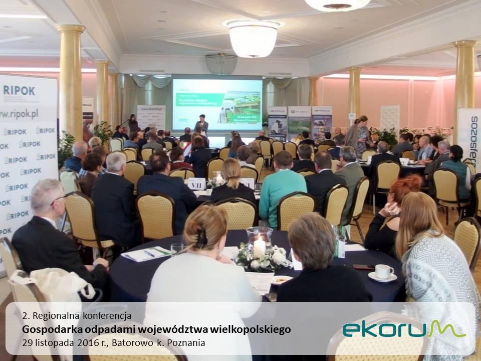 2. Regionalna konferencja<br><strong>Gospodarka odpadami województwa wielkopolskiego</strong><br>29 listopada 2016<br>Batorowo k. Poznania thumbnail