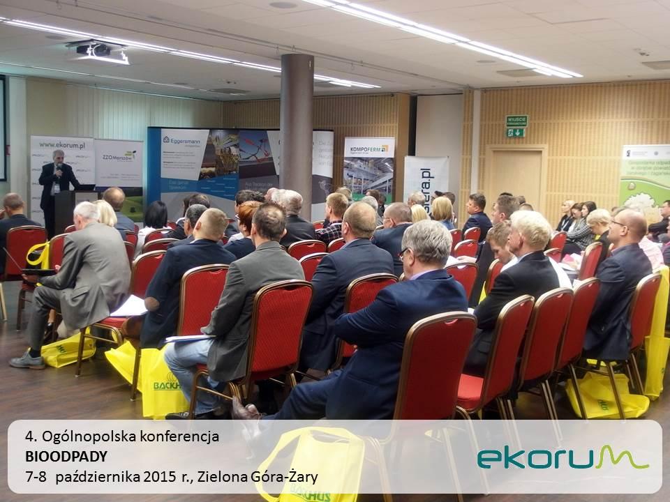 4. Ogólnopolska konferencja<br><strong>BIOODPADY</strong><br>7-8 października 2015<br>Zielona Góra-Żary thumbnail