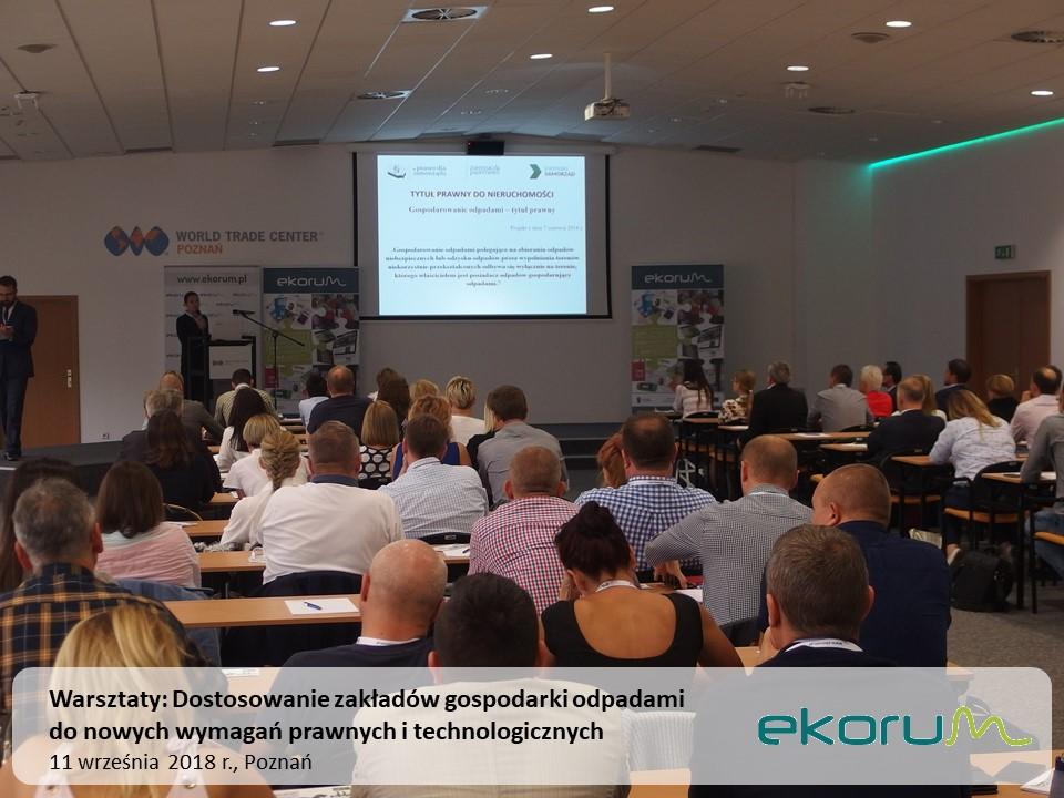 Warsztaty<br><strong>Dostosowanie zakładów gospodarki odpadami do nowych wymagań prawnych i technologicznych</strong><br>11 września 2018<br>Poznań thumbnail
