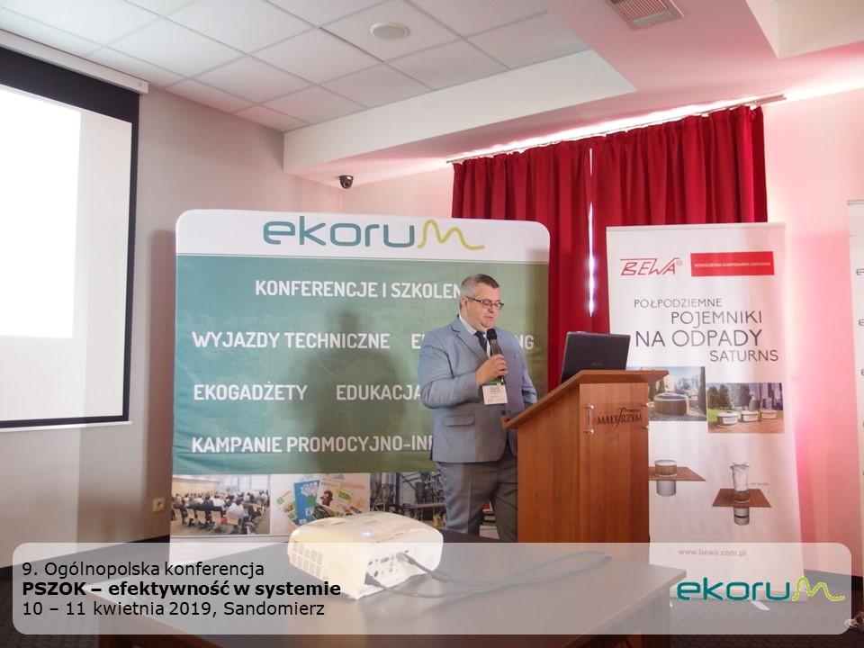 9. Ogólnopolska konferencja<br><strong>PSZOK – efektywność w systemie</strong><br>10-11 kwietnia 2019<br> Sandomierz thumbnail