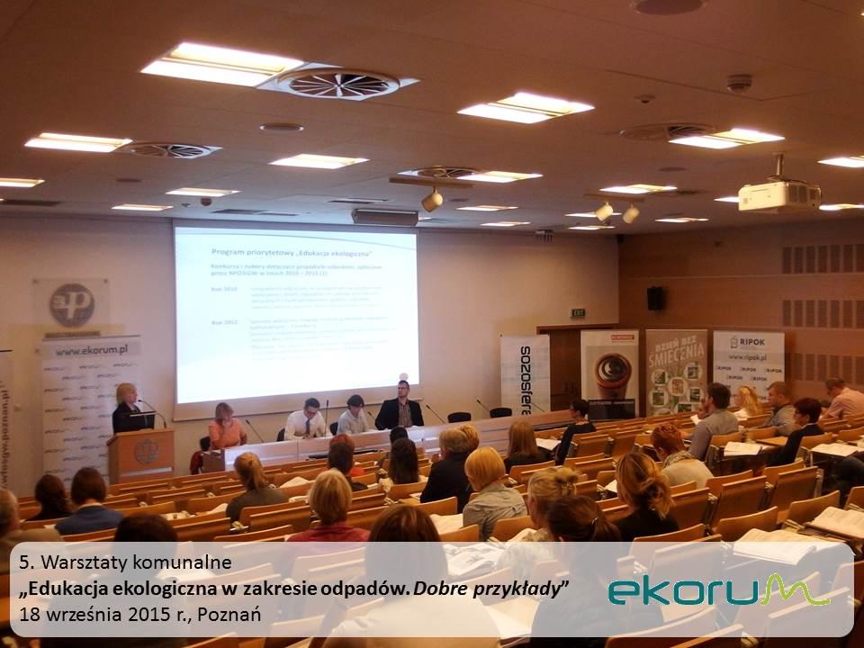 Warsztaty<br><strong>Edukacja ekologiczna w zakresie odpadów. Dobre przykłady</strong><br>18 września 2015<br>Poznań thumbnail