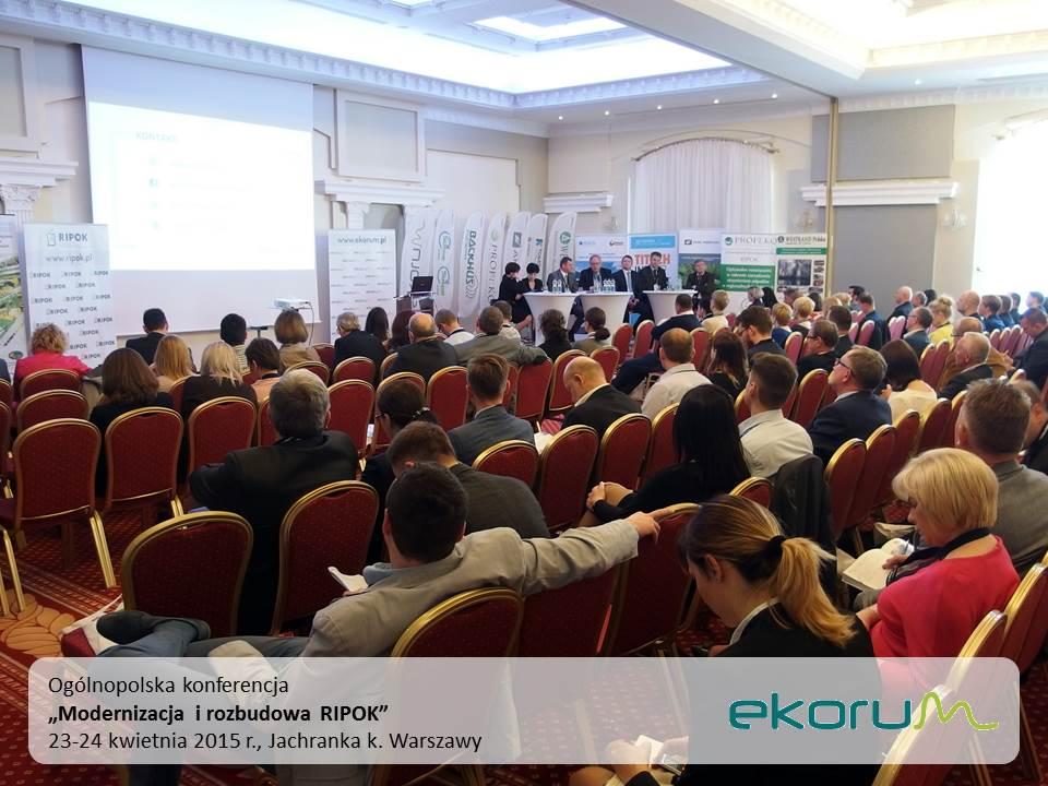 Ogólnopolska Konferencja<br><strong>Modernizacja i rozbudowa RIPOK</strong><br>23-24 kwietnia 2015<br>Jachranka k. Warszawy-Ciechanów thumbnail