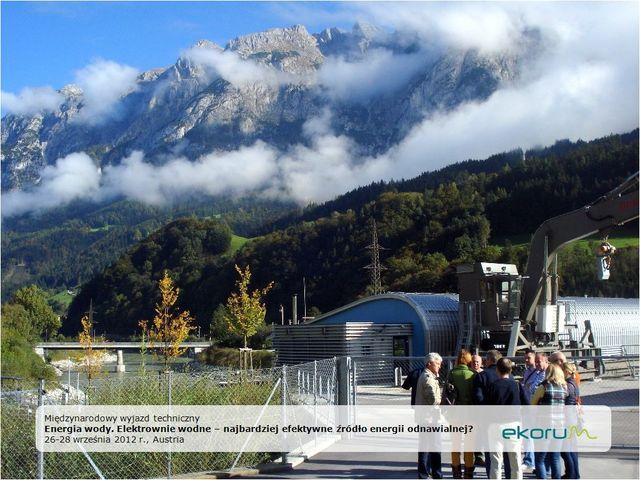 Międzynarodowy wyjazd techniczny<br><strong>Energia wody.  Elektrownie wodne – najbardziej efektywne źródło energii odnawialnej?</strong><br>26-28 września 2012<br>Austria thumbnail