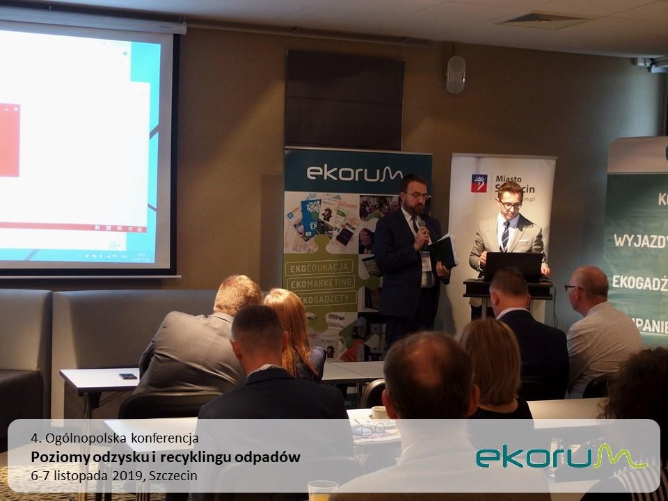 4. Ogólnopolska konferencja<br><strong>Poziomy odzysku i recyklingu odpadów</strong><br>6-7 listopada 2019<br>Szczecin thumbnail