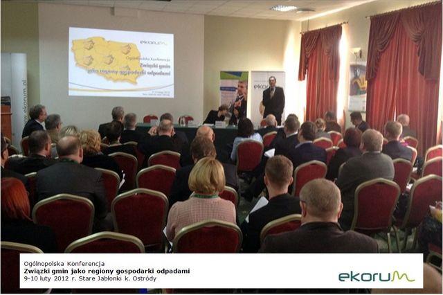 Ogólnopolska konferencja <br> <strong> Związki gmin jako regiony gospodarki odpadami</strong> <br>9-10 luty 2012 <br> Stare Jabłonki thumbnail