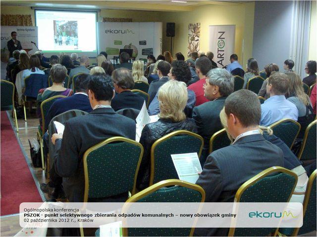 Ogólnopolska konferencja<br> <strong>PSZOK -punkt selektywnego zbierania odpadów komunalnych – nowy obowiązek gminy</strong> <br>2 października 2012<br>Kraków thumbnail