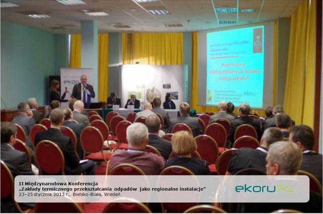 II Międzynarodowa Konferencja<br><strong>Zakłady termicznego przekształcania odpadów jako regionalne instalacje</strong><br>23-25 stycznia 2013<br>Bielsko-Biała – Wiedeń thumbnail