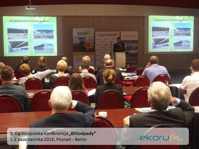 3. Ogólnopolska Konferencja<br><strong>BIOODPADY</strong><br>1-2 października 2014<br>Poznań – Berlin thumbnail
