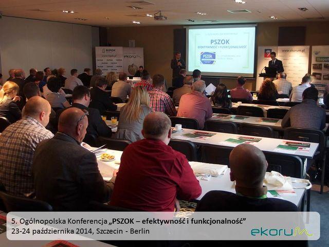 5. Ogólnopolska Konferencja<br><strong>PSZOK – efektywność i funkcjonalność</strong><br>23-24 października 2014<br>Szczecin – Berlin thumbnail