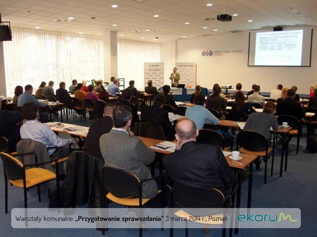 Warsztaty komunalne <br><strong>Przygotowanie sprawozdania</strong><br>3 marzec 2014<br>Poznań thumbnail