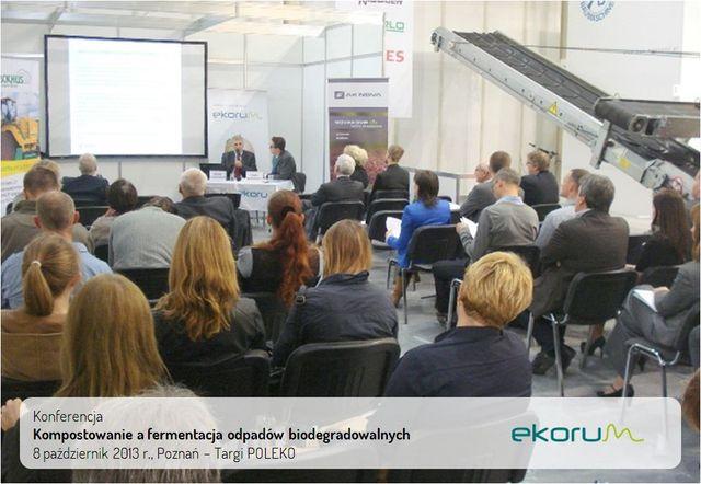 Otwarta konferencja<br><strong>Kompostowanie a fermentacja beztlenowa odpadów biodegradowalnych</strong><br>8 październik 2013<br>Poznań – targi POLEKO thumbnail