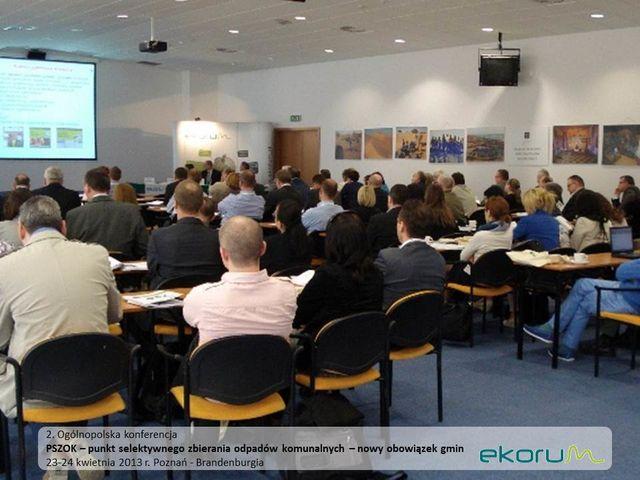 Ogólnopolska Konferencja<br><strong>PSZOK – punkt selektywnego zbierania odpadów komunalnych – nowy obowiązek gmin</strong><br>23-24 kwietnia 2013<br>Poznań-Brandenburgia thumbnail