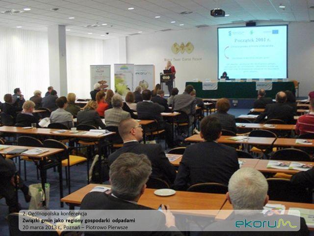II Ogólnopolska Konferencja<br><strong>Związki gmin jako regiony gospodarki odpadami</strong><br>20 marca 2013<br>Poznań-Piotrowo Pierwsze thumbnail