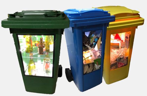 pojemniki na odpady do ekspozycji