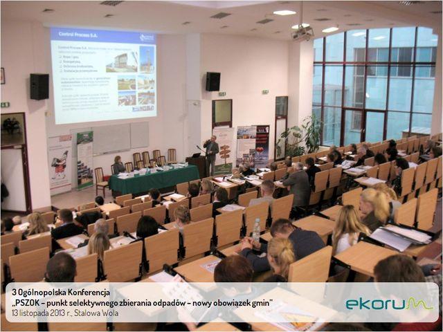 3. Ogólnopolska Konferencja <br><strong>PSZOK – punkt selektywnego  zbierania odpadów komunalnych  – nowy obowiązek gmin </strong><br>13 listopada 2013<br>Stalowa Wola thumbnail