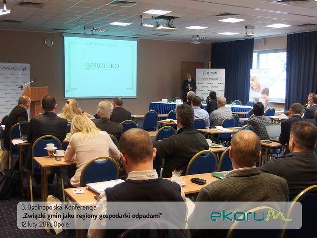 3. Ogólnopolska Konferencja<br><strong>Związki gmin jako regiony gospodarki odpadami</strong><br>12 luty 2014<br>Opole thumbnail