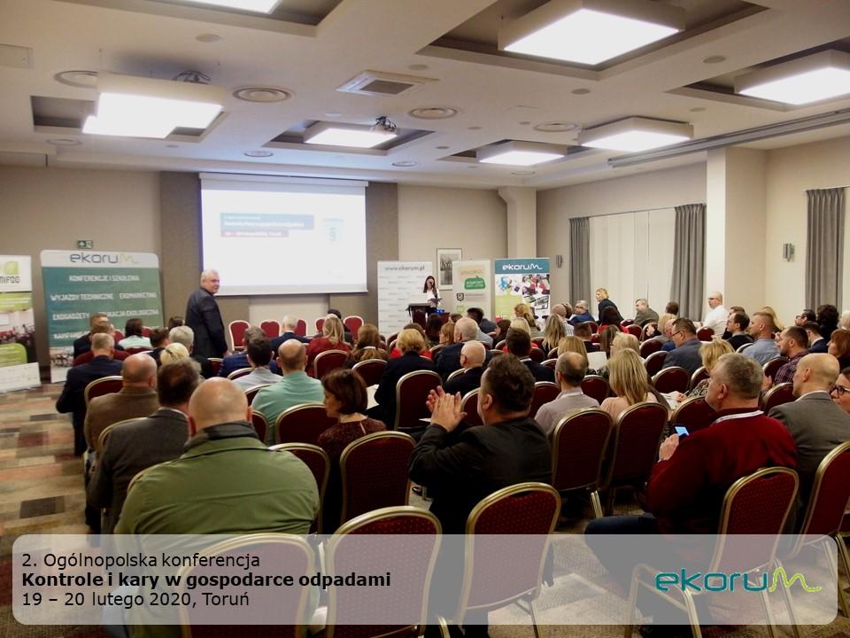 2. Ogólnopolska konferencja <br> <strong> Kontrole i kary w gospodarce odpadami </strong> <br> 19-20 lutego 2020 <br> Toruń thumbnail
