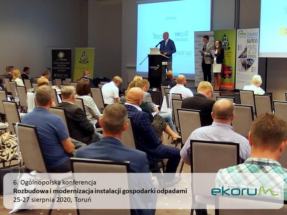 6. Ogólnopolska konferencja <br> <strong> Rozbudowa i modernizacja instalacji gospodarki odpadami </strong> <br> 25-27 sierpnia 2020 <br> Toruń thumbnail