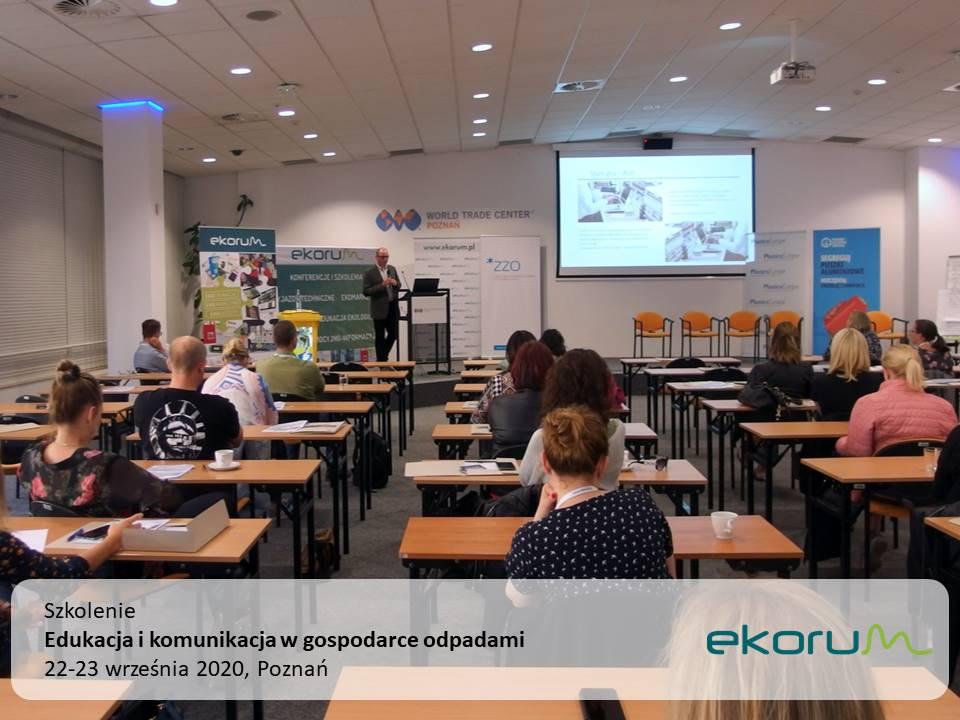 Szkolenie <br> <strong> Edukacja i komunikacja w gospodarce odpadami </strong> <br> 22-23 września 2020 <br> Poznań thumbnail